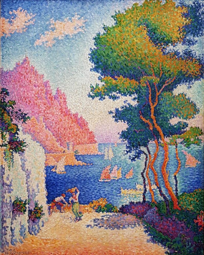 Paul Signac Capo Di Noli, Kanvas Tablo, Paul Signac, kanvas tablo, canvas print sales
