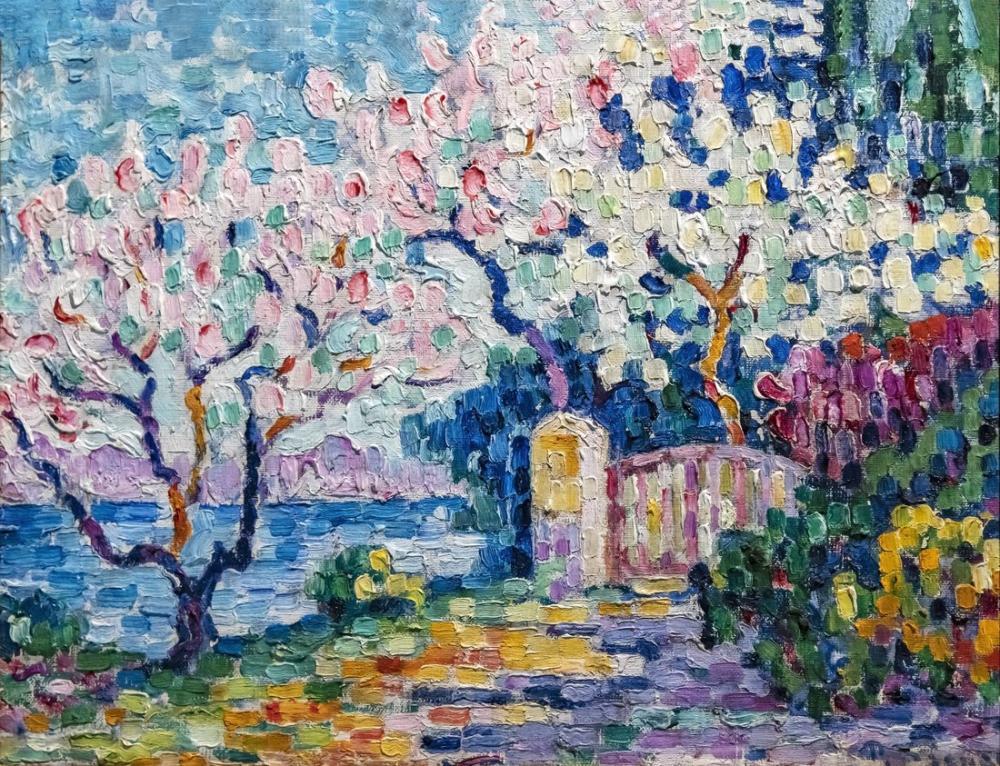Paul Signac Toulouse Ağaçları Çiçek, Kanvas Tablo, Paul Signac, ps07