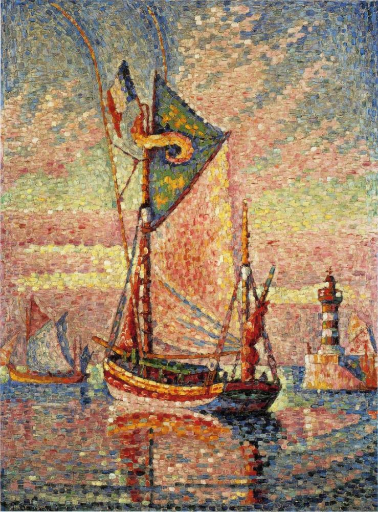 Paul Signac Concarneau Limanı, Kanvas Tablo, Paul Signac, kanvas tablo, canvas print sales