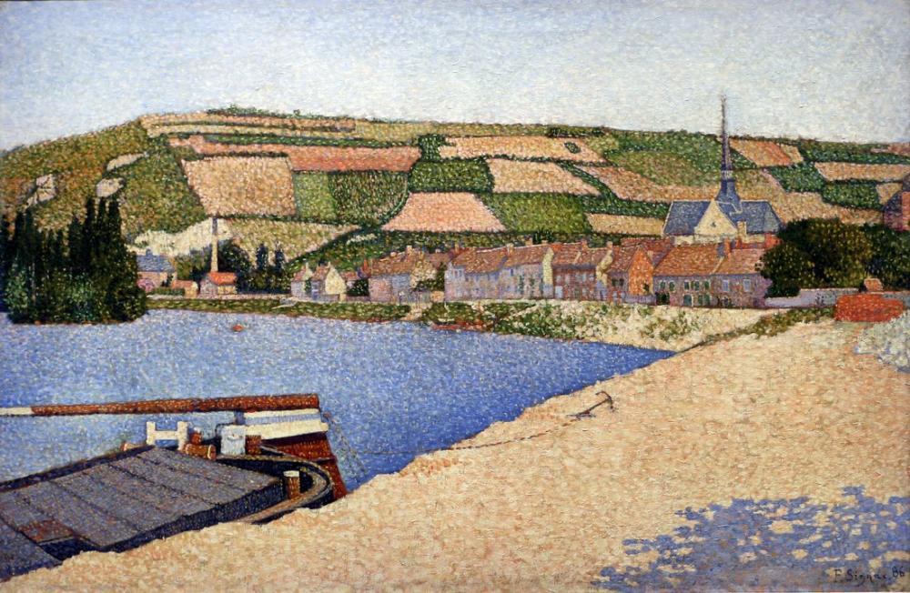Paul Signac Les Andelys Cote Daval, Canvas, Paul Signac, kanvas tablo, canvas print sales