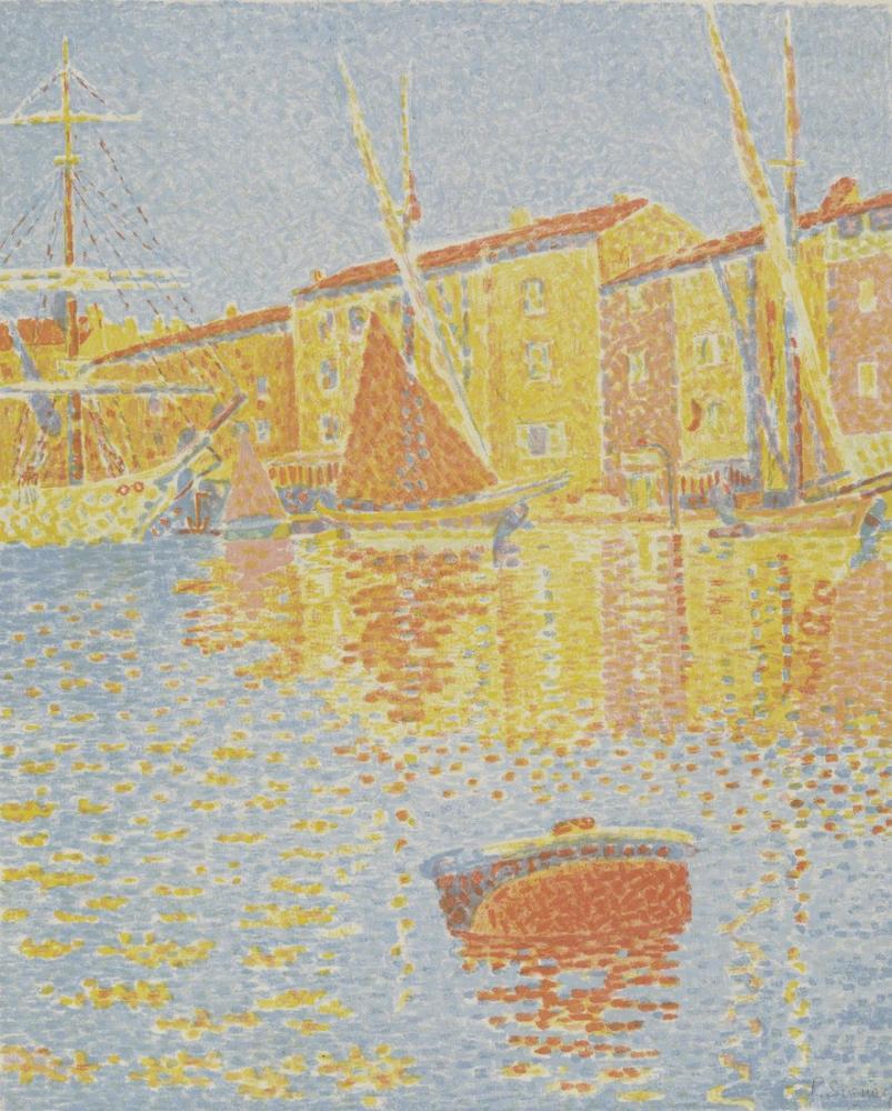 Paul Signac Saint Tropez Limanı 1894, Kanvas Tablo, Paul Signac, ps103