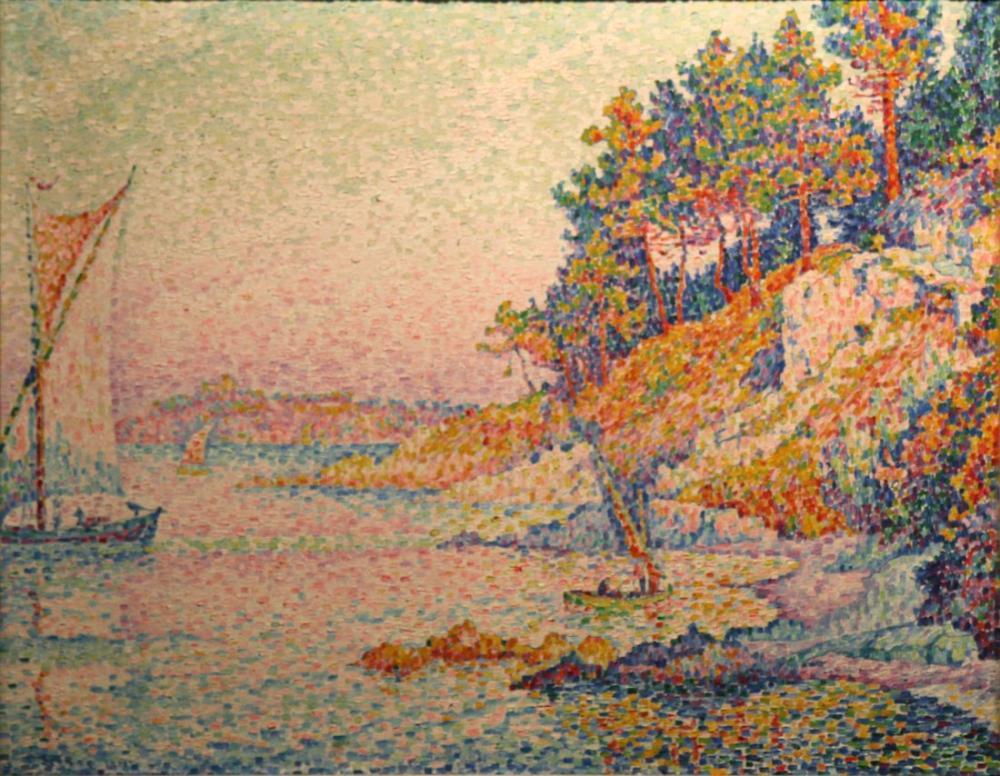 Paul Signac La Calanque, Canvas, Paul Signac, kanvas tablo, canvas print sales