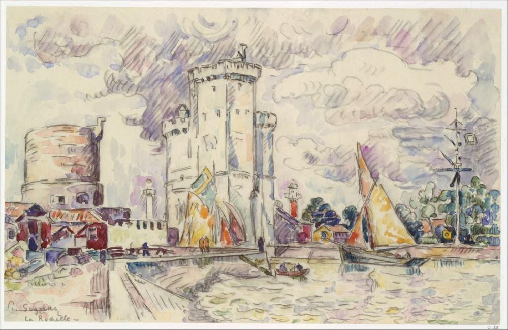 Paul Signac La Rochelle, Kanvas Tablo, Paul Signac, kanvas tablo, canvas print sales