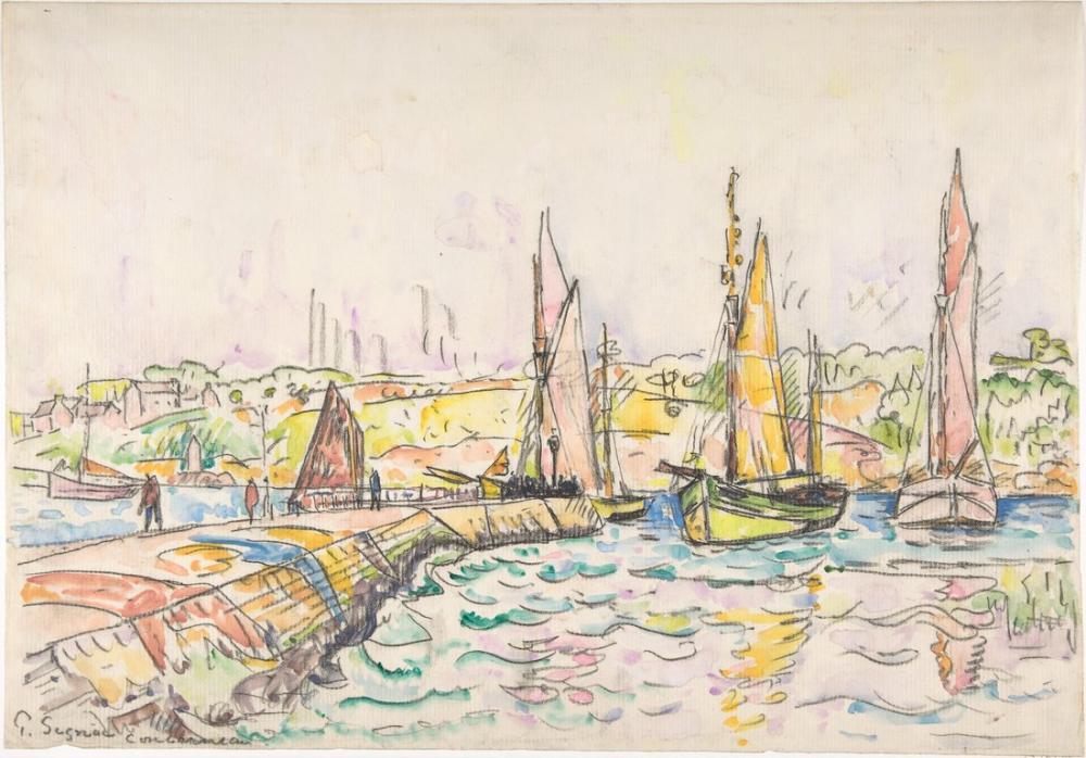 Paul Signac Concarneau, Kanvas Tablo, Paul Signac, kanvas tablo, canvas print sales