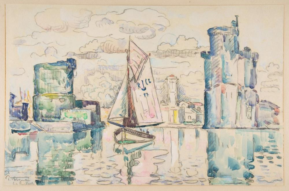 Paul Signac Entrance To The Harbor Of La Rochelle, Canvas, Paul Signac, kanvas tablo, canvas print sales