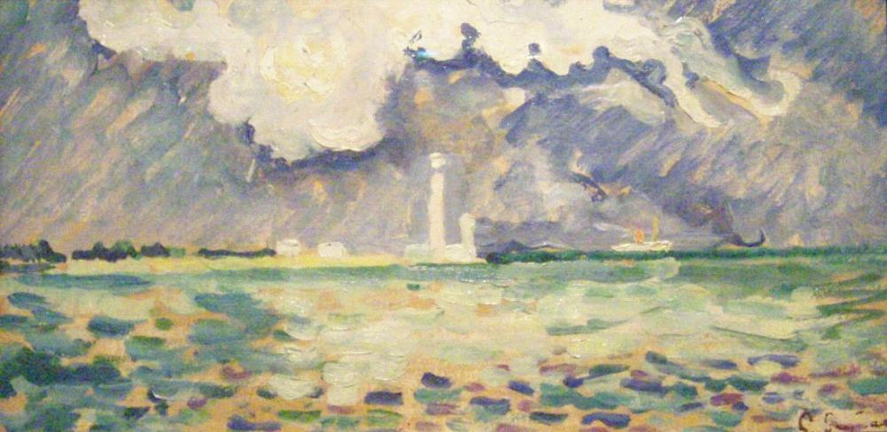 Paul Signac Gatteville Deniz Feneri, Kanvas Tablo, Paul Signac, ps128