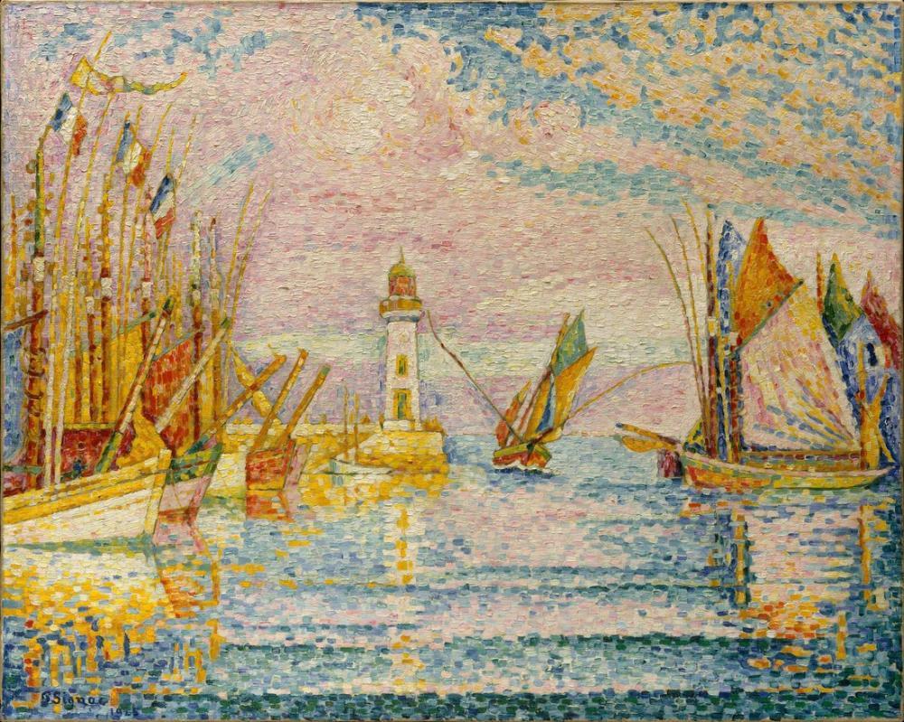 Paul Signac Deniz Feneri Groix, Kanvas Tablo, Paul Signac, kanvas tablo, canvas print sales