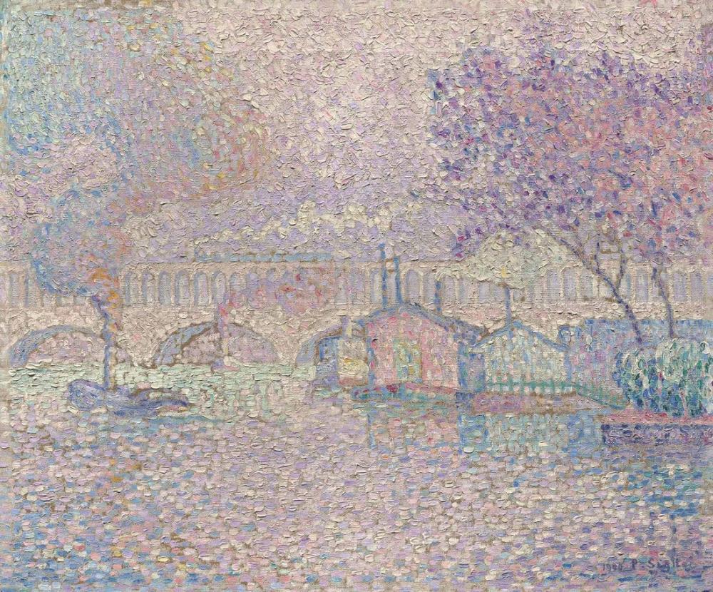 Paul Signac Auteuil Viyadüğü, Kanvas Tablo, Paul Signac, ps140