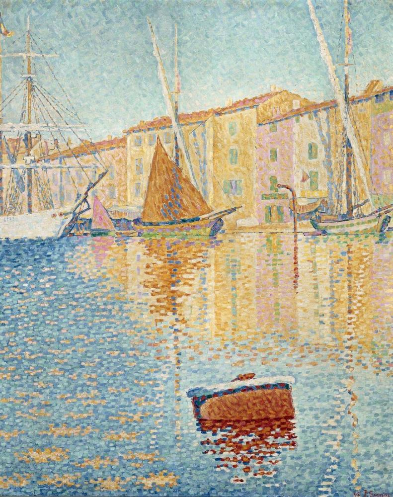 Paul Signac The Red Buoy, Canvas, Paul Signac, ps141