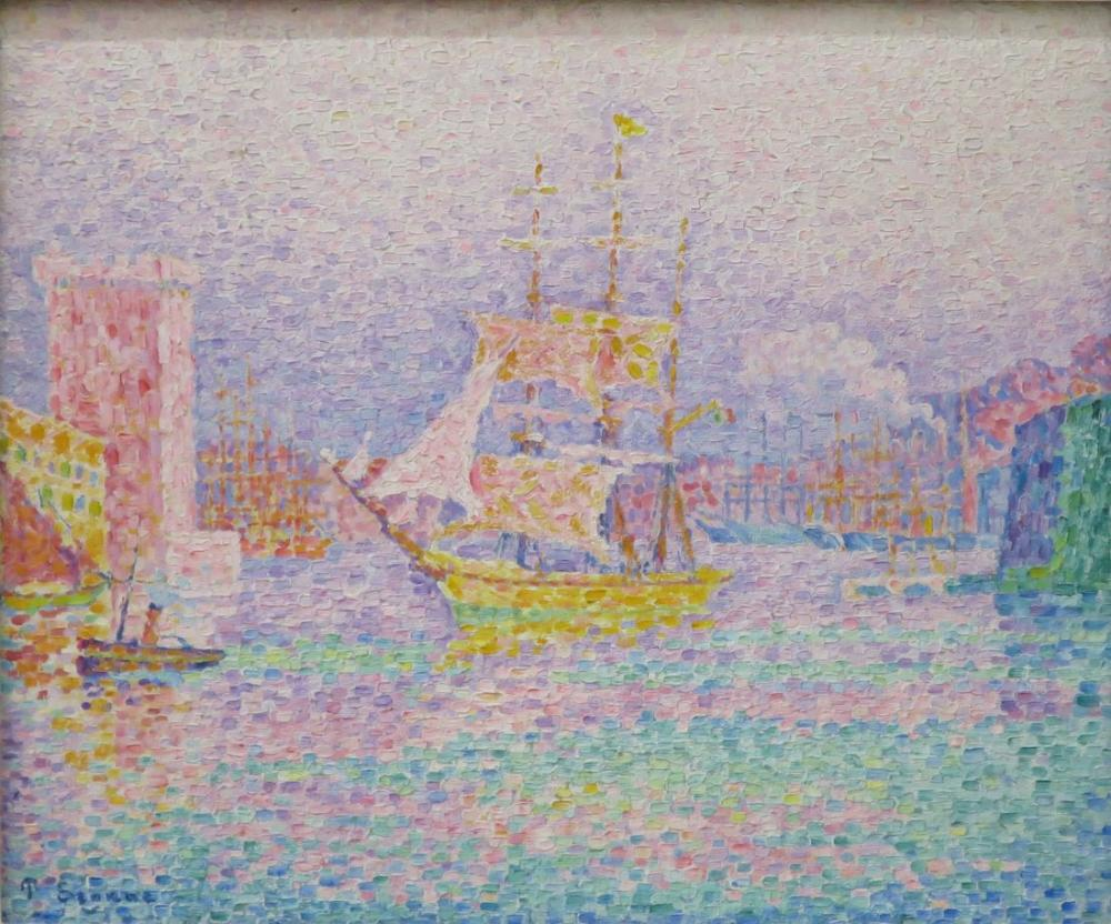Paul Signac Marsilya Limanı, Kanvas Tablo, Paul Signac, kanvas tablo, canvas print sales