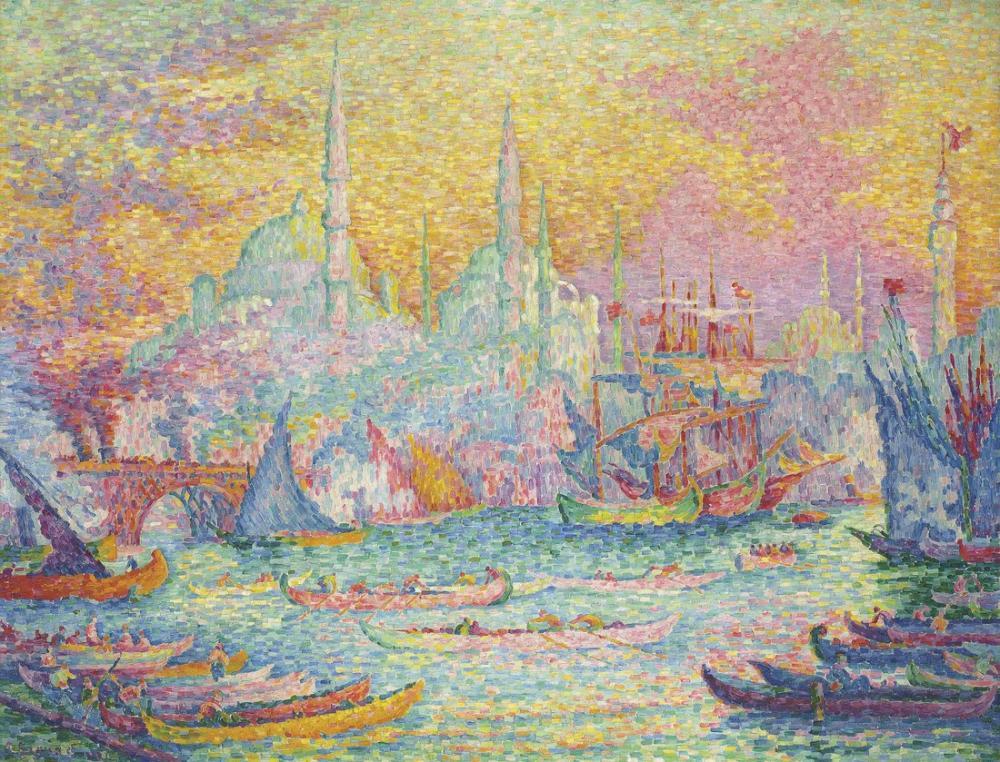Paul Signac Altın Boynuz Konstantinopolis, Kanvas Tablo, Paul Signac
