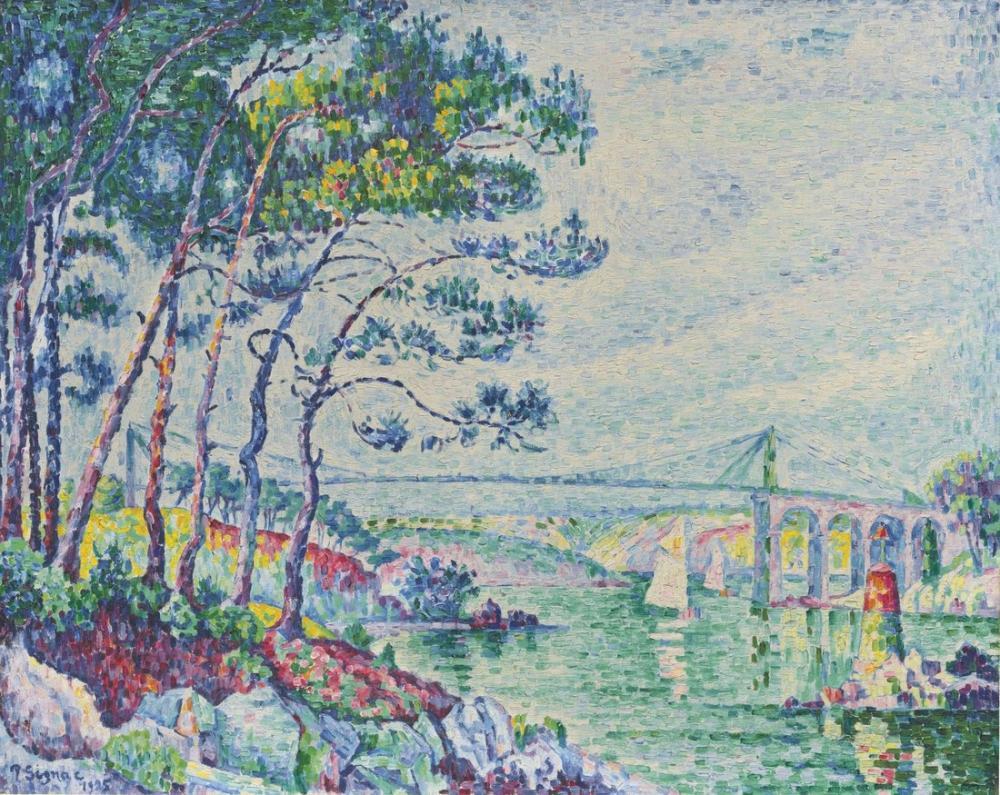 Paul Signac Lezardrieux Köprüsü, Kanvas Tablo, Paul Signac, kanvas tablo, canvas print sales