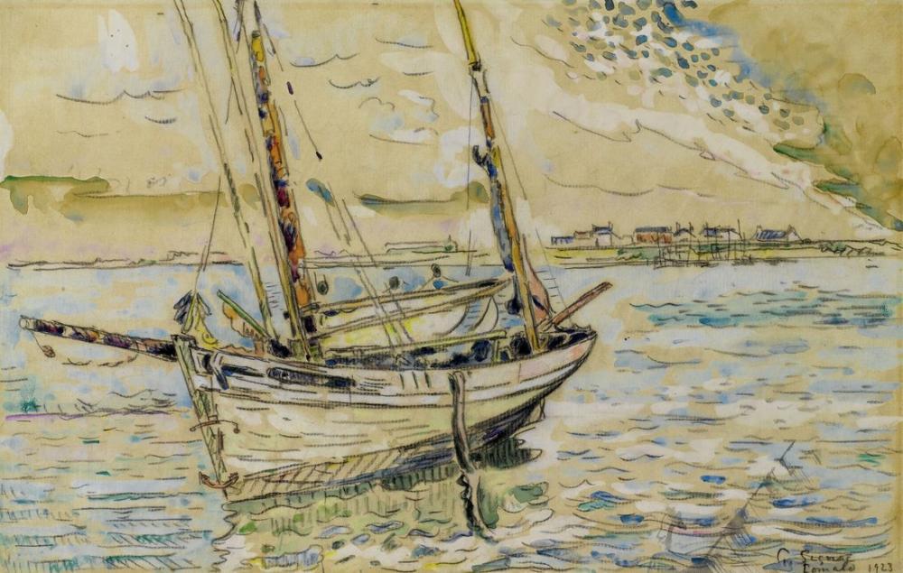 Paul Signac Lomalo Yelkenli Gemi, Kanvas Tablo, Paul Signac, kanvas tablo, canvas print sales