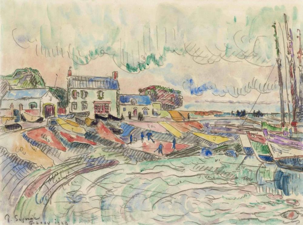 Paul Signac Groix Adası, Kanvas Tablo, Paul Signac, kanvas tablo, canvas print sales