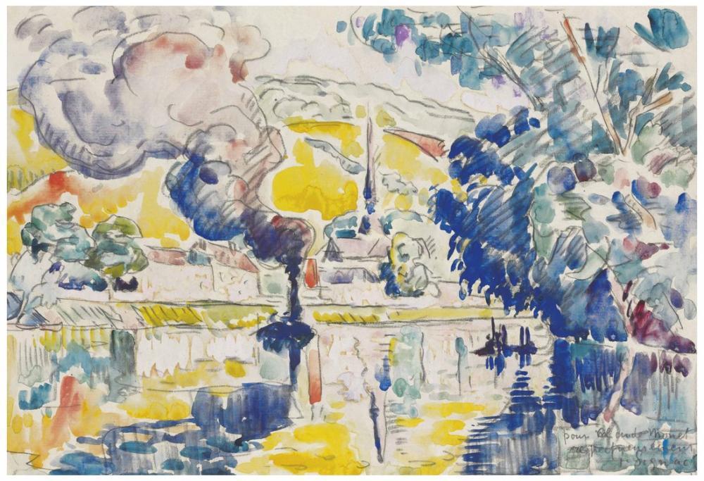 Paul Signac Andelys, Kanvas Tablo, Paul Signac