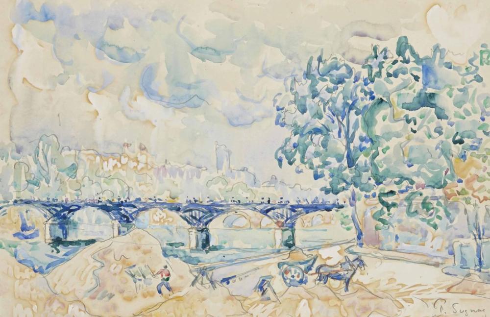 Paul Signac Paris Sanatların Köprüsü, Kanvas Tablo, Paul Signac, ps170