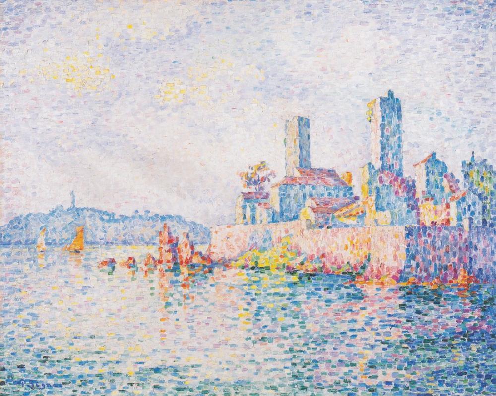 Paul Signac Antibes Kuleleri, Kanvas Tablo, Paul Signac, kanvas tablo, canvas print sales