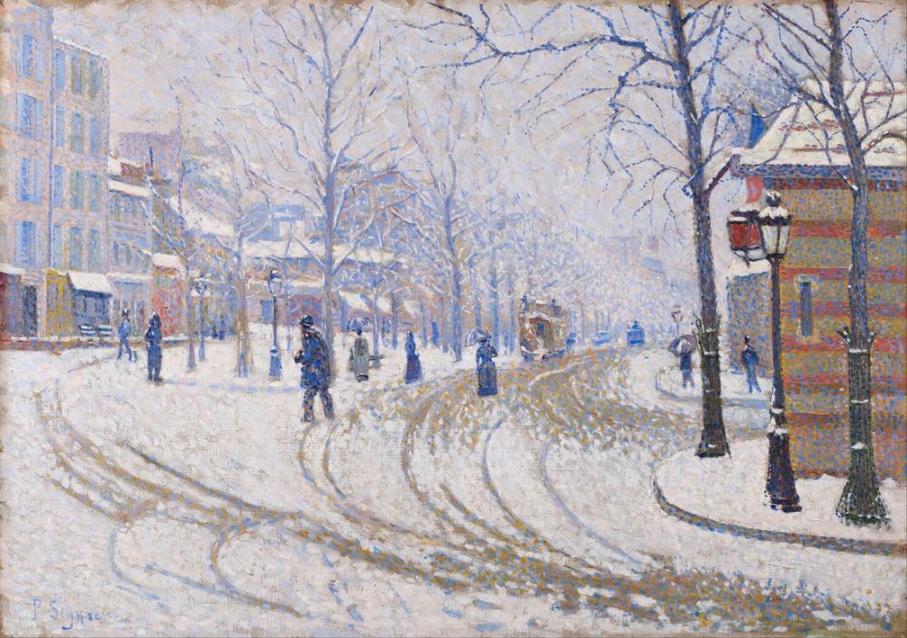 Paul Signac Kar Bulvarı Clichy Paris, Kanvas Tablo, Paul Signac, kanvas tablo, canvas print sales