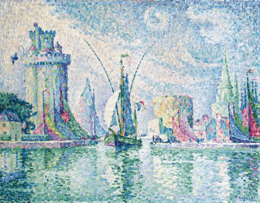 Paul Signac Yeşil Kuleler, Kanvas Tablo, Paul Signac, kanvas tablo, canvas print sales