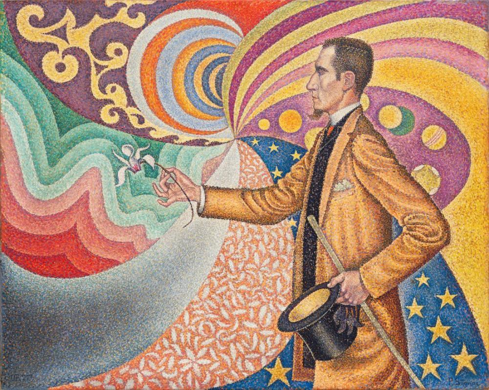 Paul Signac Portrait De Felix Feneon, Canvas, Paul Signac, ps34