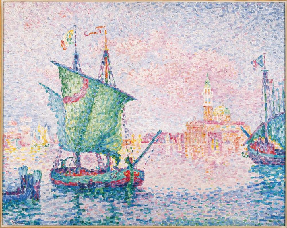 Paul Signac Venedik Pembe Bulut, Kanvas Tablo, Paul Signac, kanvas tablo, canvas print sales