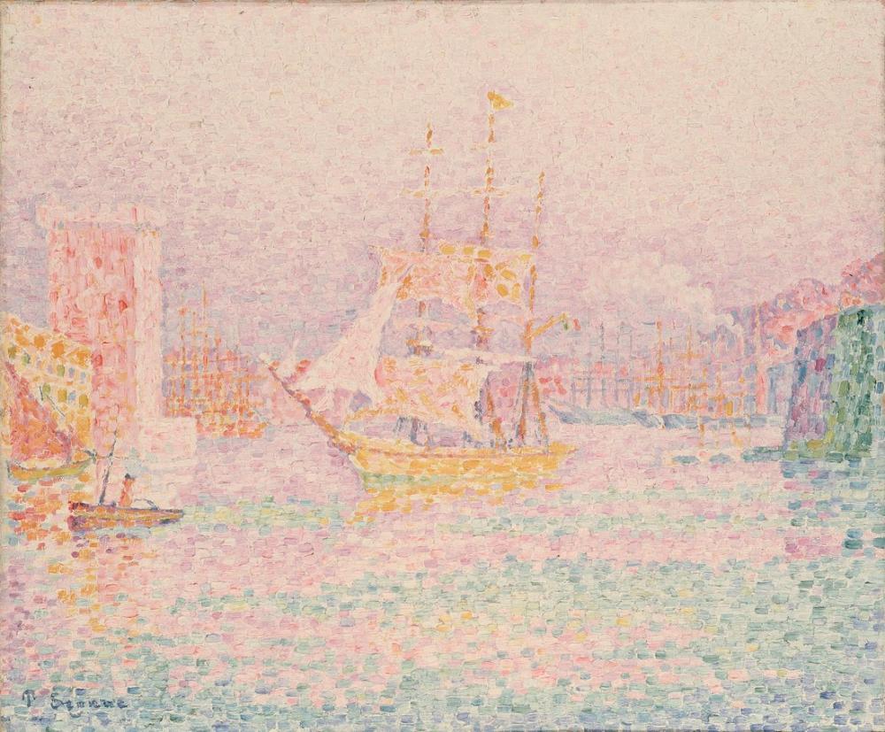 Paul Signac The Harbour At Marseilles, Canvas, Paul Signac, ps39