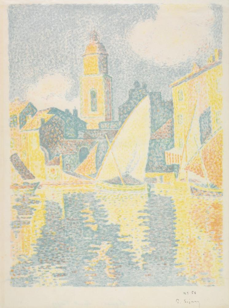 Paul Signac Saint Tropez The Port, Canvas, Paul Signac, kanvas tablo, canvas print sales
