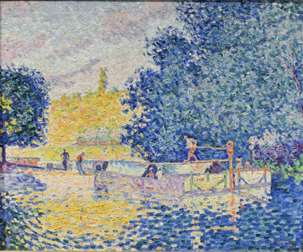Paul Signac Samois Kilidi, Kanvas Tablo, Paul Signac, kanvas tablo, canvas print sales