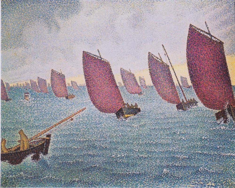 Paul Signac Regatta, Kanvas Tablo, Paul Signac, ps57