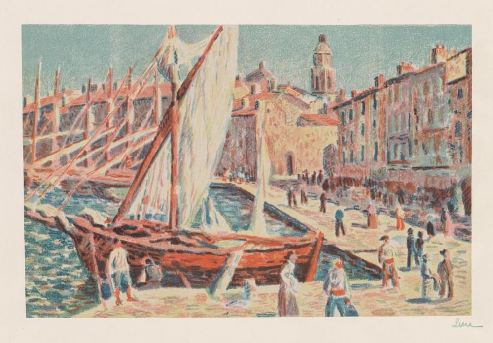 Paul Signac Maximilien Luce Saint Tropez, Canvas, Paul Signac, ps60