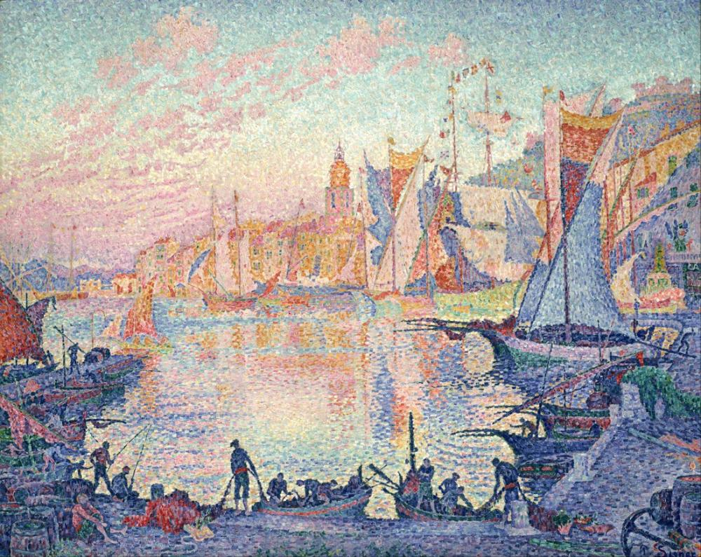 Paul Signac Saint Tropez Limanı, Kanvas Tablo, Paul Signac, ps69