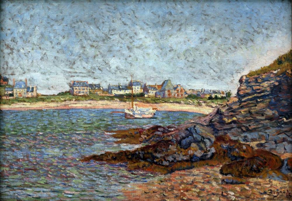 Paul Signac View of The Port of Saint Briac, Canvas, Paul Signac, kanvas tablo, canvas print sales