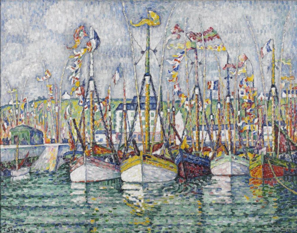 Paul Signac Orkinos Filosunun Nimetleri Groix, Kanvas Tablo, Paul Signac, kanvas tablo, canvas print sales