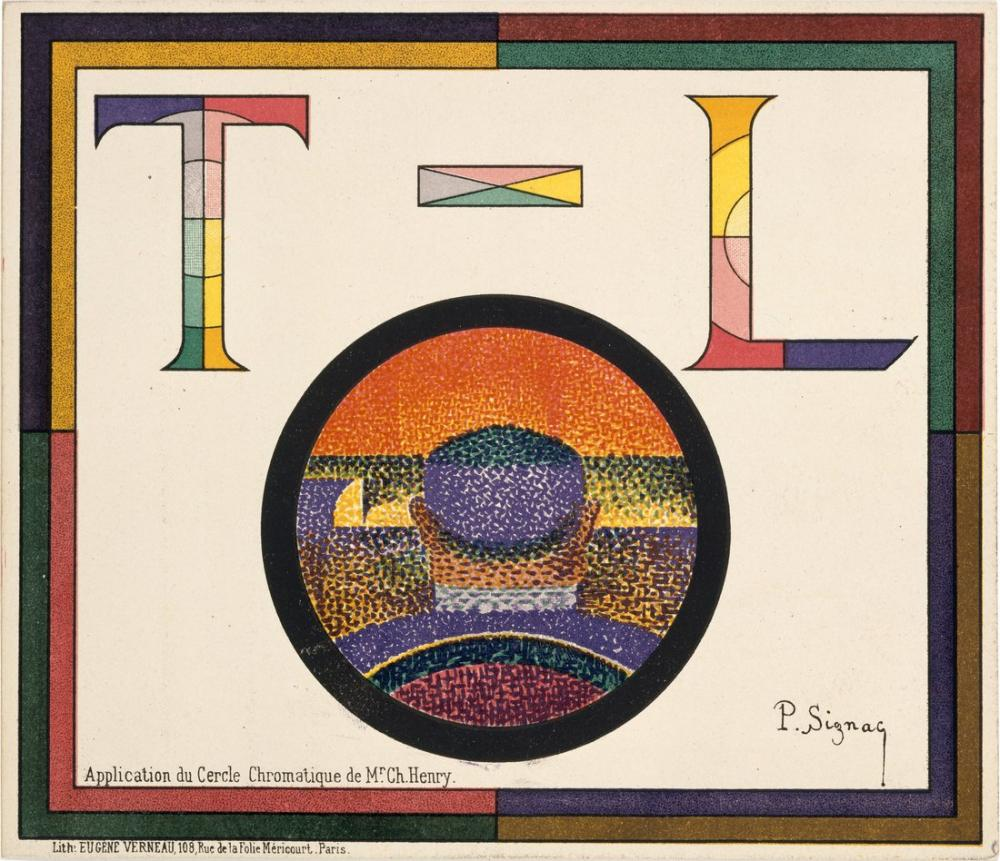 Paul Signac Application of Charles Henrys Chromatic Circle, Canvas, Paul Signac, kanvas tablo, canvas print sales
