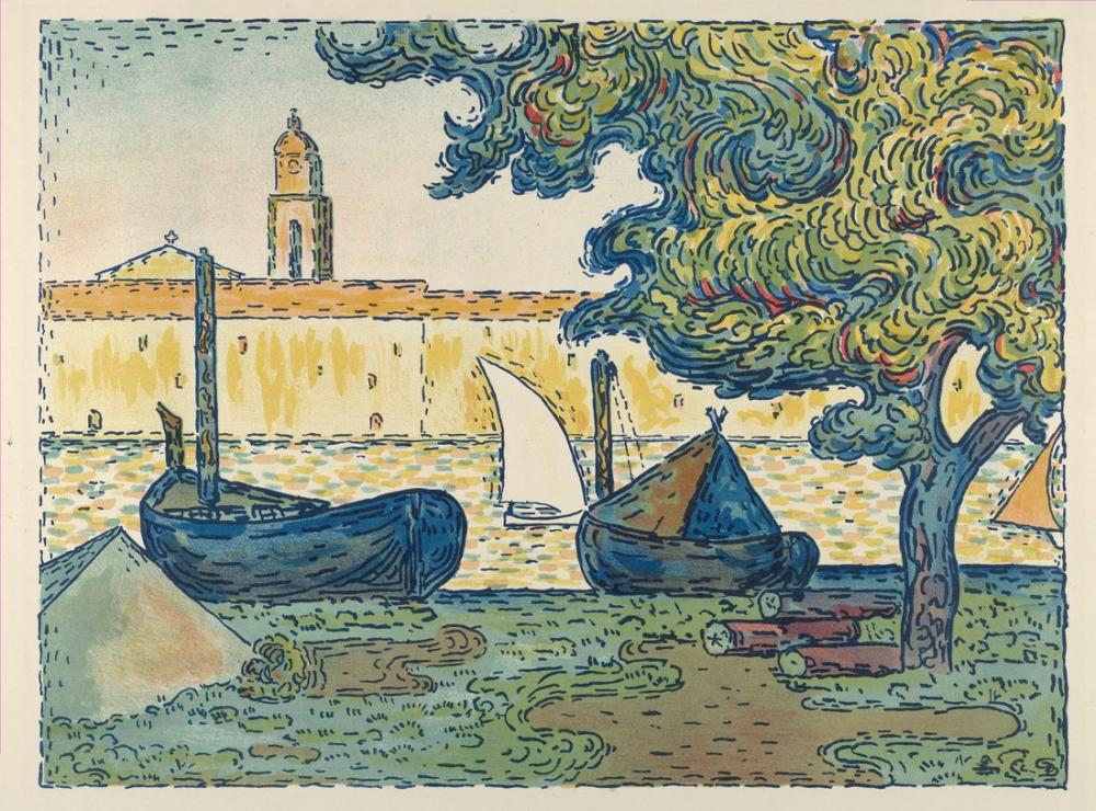 Paul Signac The Port Of Saint Tropez, Canvas, Paul Signac, kanvas tablo, canvas print sales