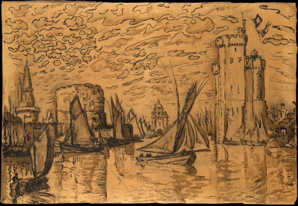 Paul Signac  La Rochelle II, Kanvas Tablo, Paul Signac