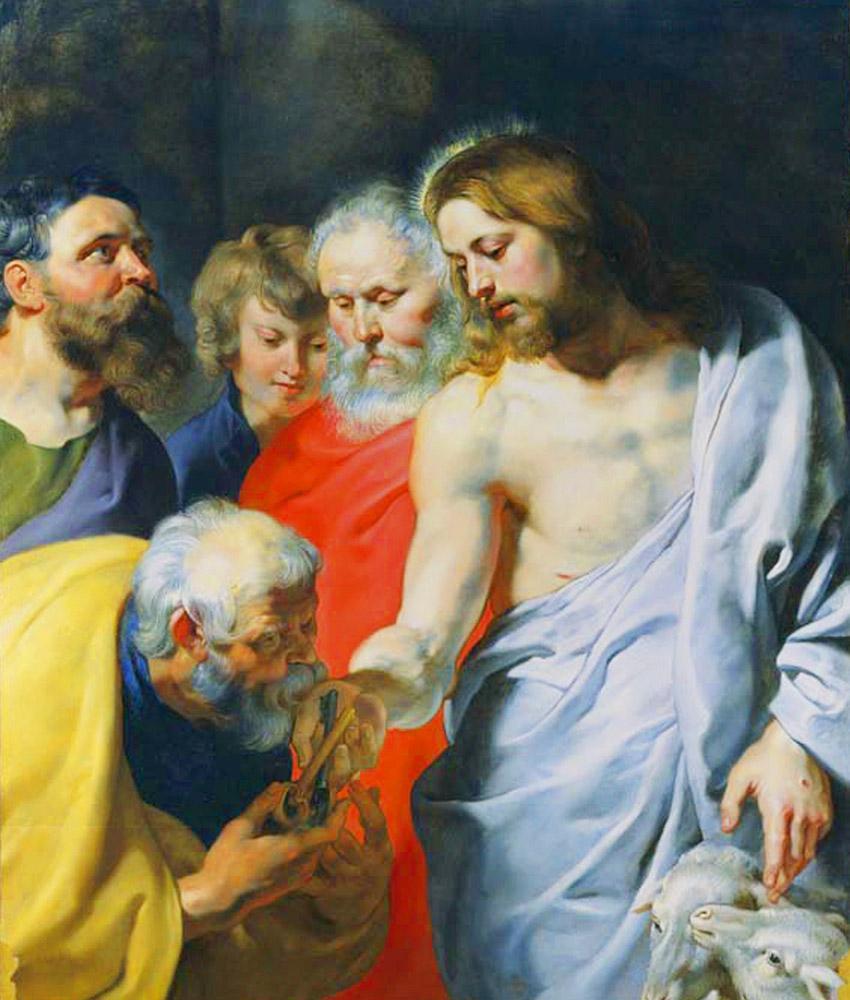 Peter Paul Rubens consegna delle chiavi, Canvas, Peter Paul Rubens, kanvas tablo, canvas print sales