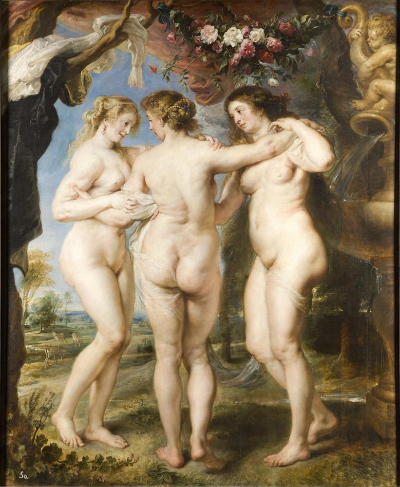 Peter Paul Rubens The Three Graces, Canvas, Peter Paul Rubens