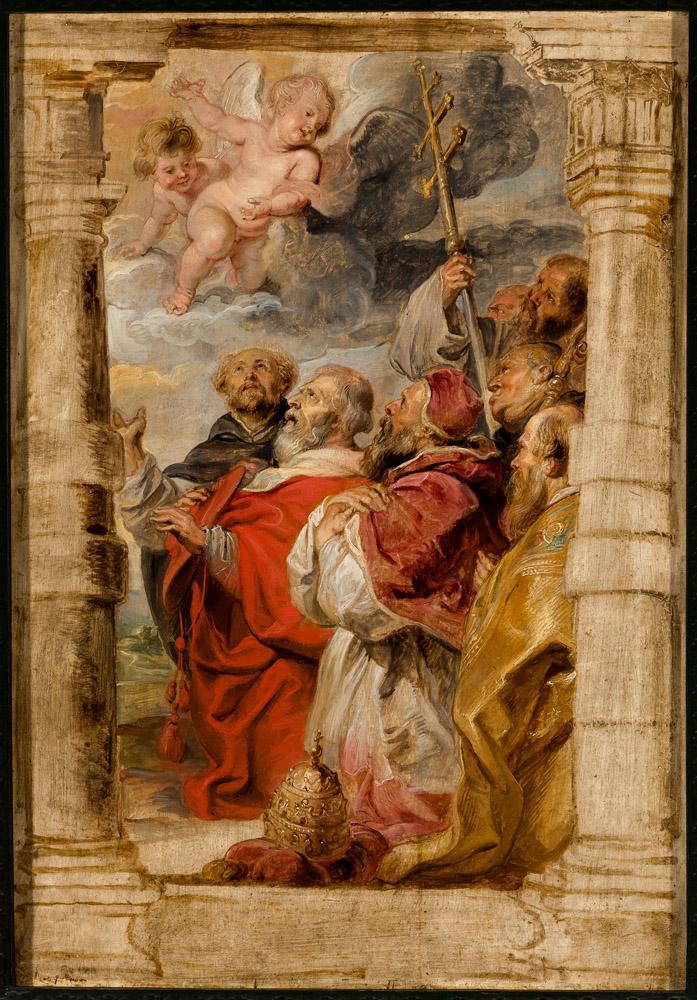 Peter Paul Rubens The Princes of the Church Adoring the Eucharist, Canvas, Peter Paul Rubens