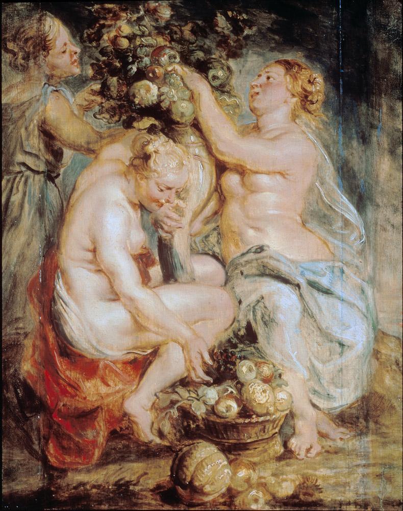 Rubens Ceres and Two Nymphs with a Cornucopia, Canvas, Peter Paul Rubens, kanvas tablo, canvas print sales