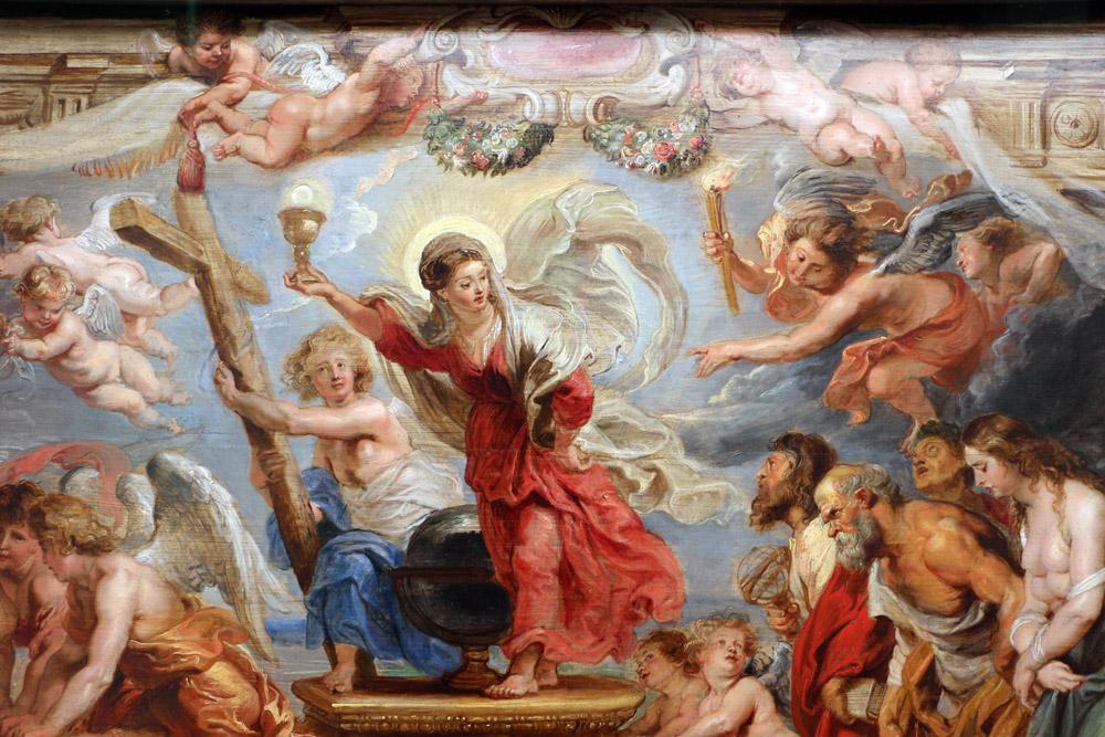 Rubens Trionfo della fede cattolica, Canvas, Peter Paul Rubens, kanvas tablo, canvas print sales