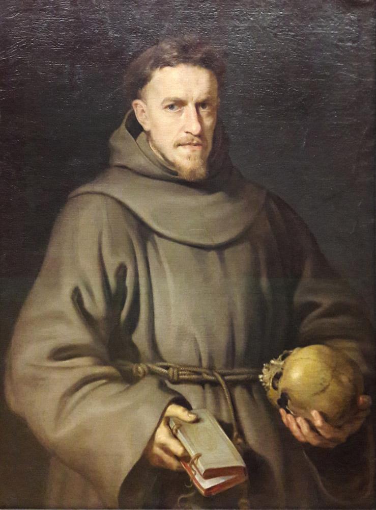 Peter Paul Rubens Portrait of a Franciscan friar, Canvas, Peter Paul Rubens, kanvas tablo, canvas print sales