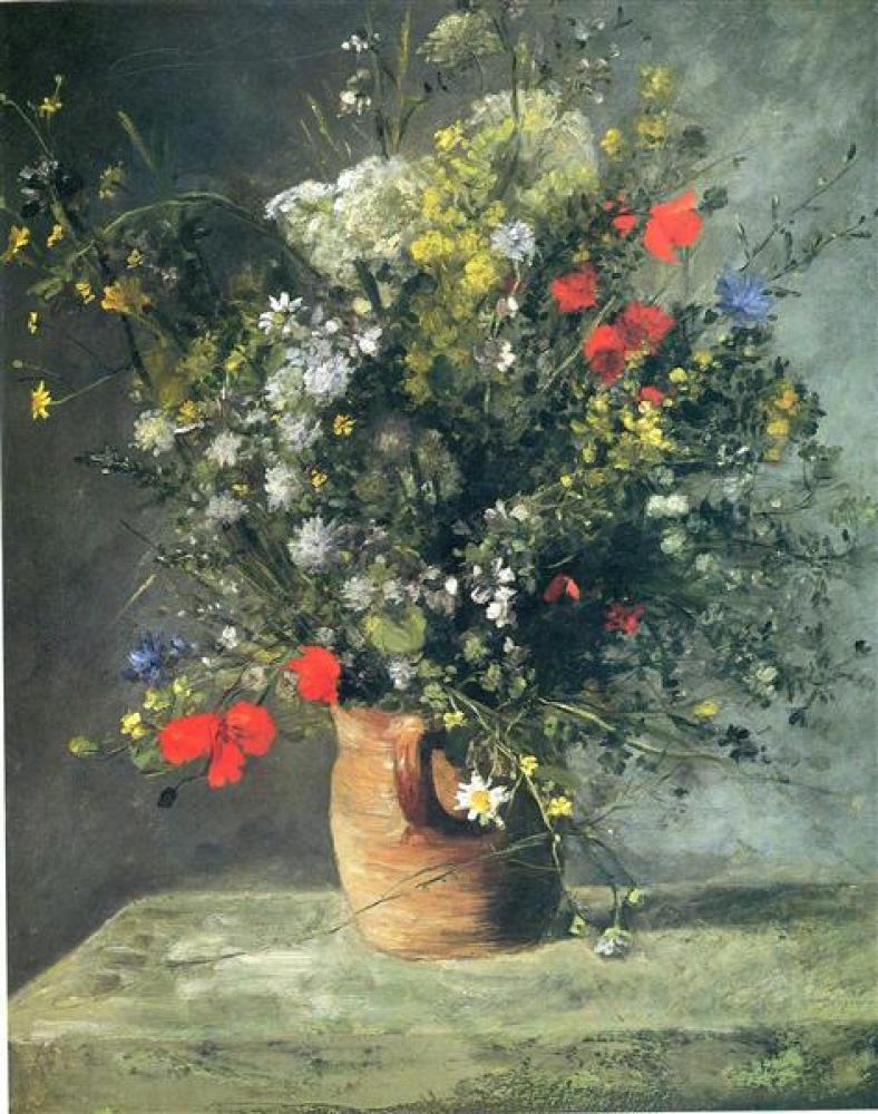 Renoir Vazoda Çiçekler, Kanvas Tablo, Pierre Auguste Renoir, kanvas tablo, canvas print sales