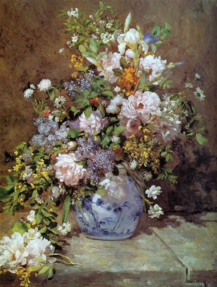 Renoir Bahar Buketi Yağlıboya Tablo, Kanvas Tablo, Pierre Auguste Renoir, kanvas tablo, canvas print sales