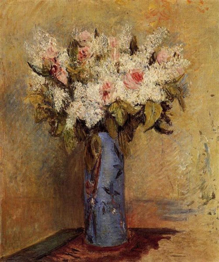 Renoir Leylak ve Güllerin Vazosu Yağlıboya Tablo, Kanvas Tablo, Pierre Auguste Renoir, kanvas tablo, canvas print sales