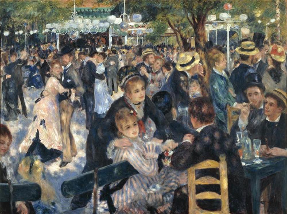 Renoir Moulin De La Galette de Dans Yağlıboya Tablo, Kanvas Tablo, Pierre Auguste Renoir, kanvas tablo, canvas print sales