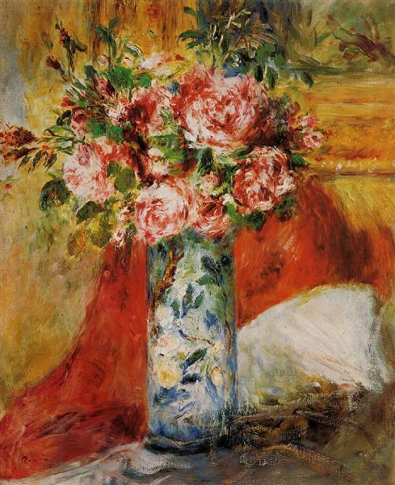 Renoir Vazoda Güller Yağlıboya Tablo, Kanvas Tablo, Pierre Auguste Renoir, kanvas tablo, canvas print sales