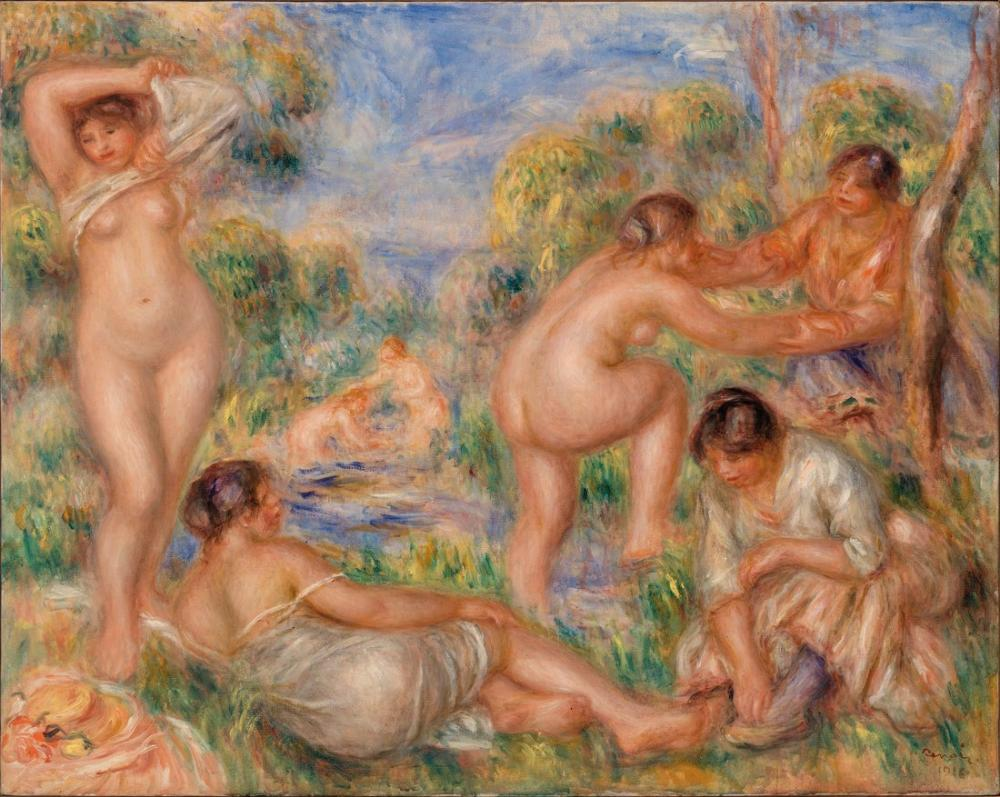 Pierre Auguste Renoir Bathing Group, Canvas, Pierre Auguste Renoir, kanvas tablo, canvas print sales