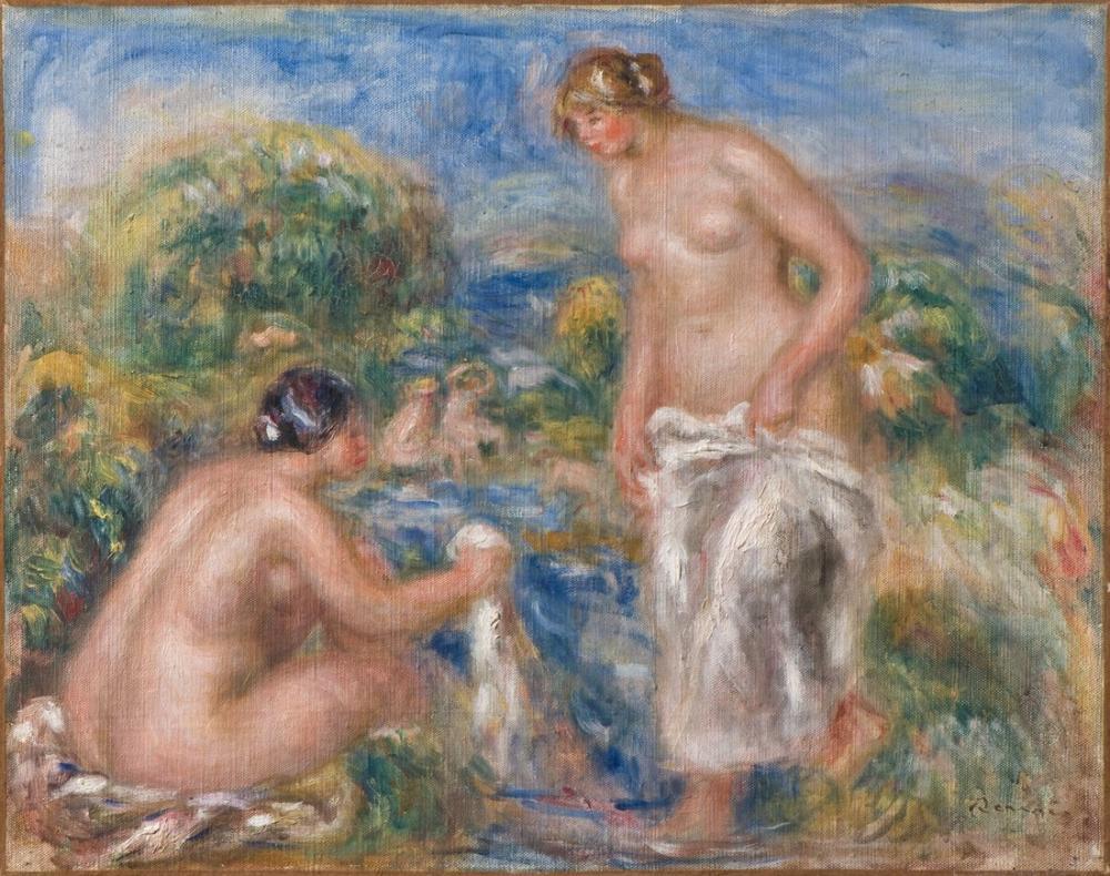 Pierre Auguste Renoir Banyo Kadınlar, Kanvas Tablo, Pierre Auguste Renoir, kanvas tablo, canvas print sales