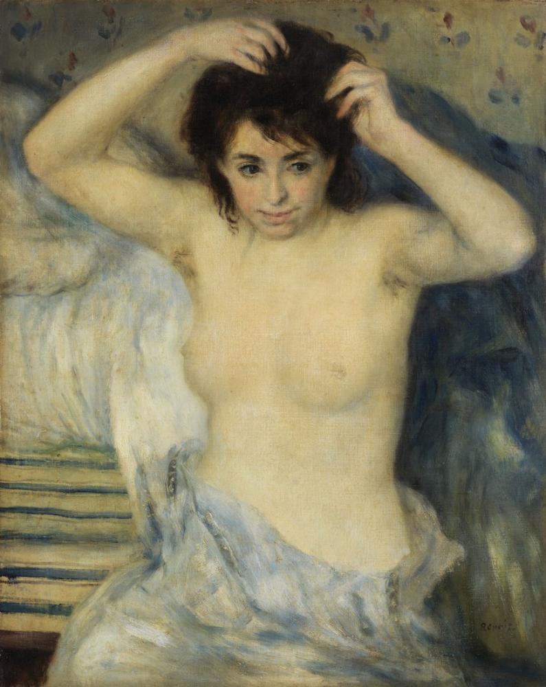 Pierre Auguste Renoir Banyodan Önce 9, Kanvas Tablo, Pierre Auguste Renoir, kanvas tablo, canvas print sales